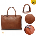 Retro Brown Leather Briefcase Handbags CW901525 - CWMALLS.COM