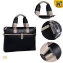 Men Black Cowhide Business Handbags CW901535 - CWMALLS.COM