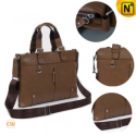 Men Black/Khaki Leather Business Handbags CW901586 - CWMALLS.COM