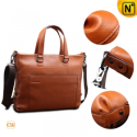 Brown Leather Business Briefcase Handbags CW901579 - CWMALLS.COM