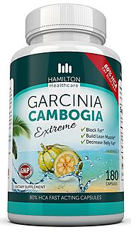 80% HCA Super Strength Garcinia Cambogia Extreme With No Calcium 180 Fast Acting Capsules. All Natural Appetite Suppr...