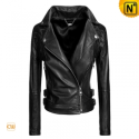 Black Cropped Women Jacket CW608348 - CWMALLS.COM
