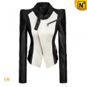 Womens Cropped Leather Jacket CW608359 - CWMALLS.COM