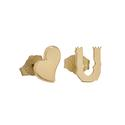 "Huggies & Studs - That's How I Roll! ""Heart You"" Mixed Stud Earrings - Gold"