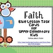 Bible Lesson Task Cards: Faith