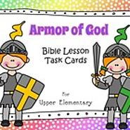 Armor of God - Bible Lesson Task Cards for Upper Elementary