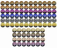 96 Count Variety (10 Amazing Blends), Single-serve Cups for Keurig K-cup® Brewers - Premium Roasted Coffee (Variety, 96)
