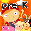 Animal Pre-K Learning Games for Kids with Skills on the Farm: The Best Pre-K and Kindergarten Counting, Shapes, Color...
