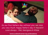 Fathers day card miss you so much - cure brain cancer foundation