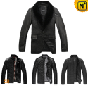 Leather Quilted Jacket Mens CW138200 - cwmalls.com
