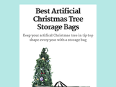 Best Artificial Christmas Tree Storage Bags