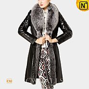 Womens Fur Trimmed Down Coat CW680018