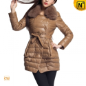 Women Leather Down Peacoat CW673668 - CWMALLS.COM