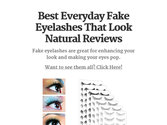 Best Everyday Fake Eyelashes That Look Natural Reviews