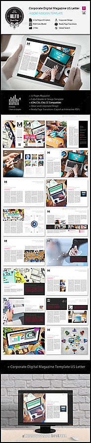 Corporate Digital Magazine Template US Letter