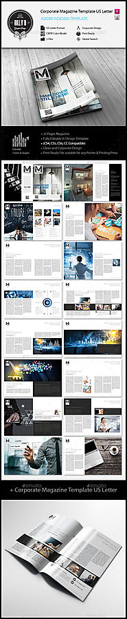 Corporate Magazine Template US Letter