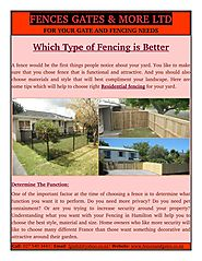 Find Style You Like For Residential Fencing