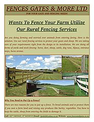 Why You Need to Put Up a Rural Fencing?