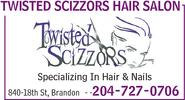 Twisted Scizzors Hair & Nails Salon 840 18th St, Brandon, MB R7A 5B7