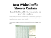 Best White Ruffle Shower Curtain