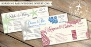 Wedding Invitations with Detachable RSVP Cards