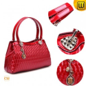 Shiny Women Black/Red Leather Handbags CW301301 - BAGS.CWMALLS.COM