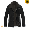 Mens Winter Lamb Fur Leather Coat CW819468 - CWMALLS.COM