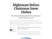 Nightmare Before Christmas Snow Globes