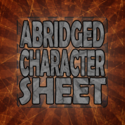 Abridged Character Sheet