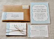 Country Vintage Wedding Invitations