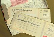 Travel Vintage Wedding Invitations