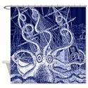 Attack of the Kraken Shower Curtain - Best Selection - Octopus or Squid Sea Monster