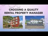 Choosing a Quality Rental Property Manager