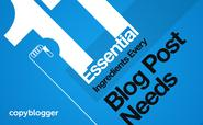 11 Essential Ingredients to a Blog Post