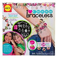 ALEX Toys Do-it-Yourself Wear I Heart Charm Bracelets Kit - Age 8 and up