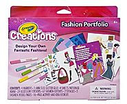 Arts and Crafts for Girls Fashion Toy - Crayola Design Fashion Toys Craft Kit Portfolio (Pack of 2) - Age 6 and up