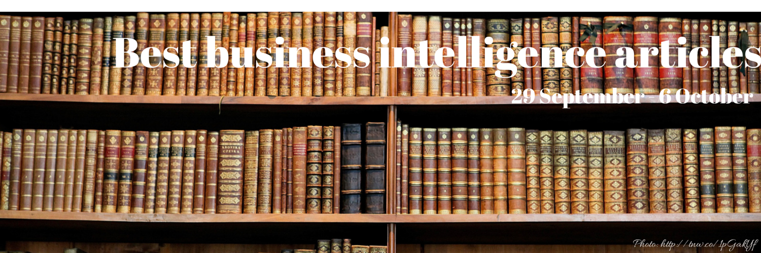 Headline for Best business intelligence articles, 29 September - 6 October