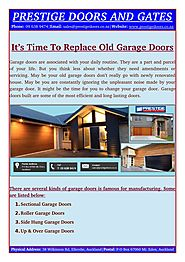 The Time For You To Change Your Garage Doors