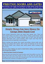 Professional for Your Garage Door Repair