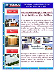 How To Save Money In Garage Door Repair?
