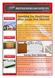 Selecting Material for Installing Garage Door