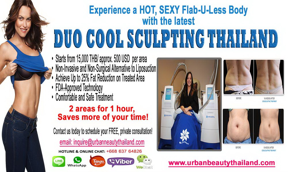 Headline for Urban Beauty Thailand - Lowest Price Coolsculpting Zeltig Fat Reduction Bangkok, Phuket Thailand