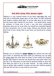 Feel Rich Living With Antique Lights