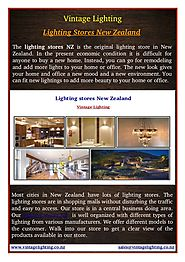 Lighting Stores New Zealand