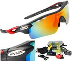 RIVBOS 801 POLARIZED Sports Sunglasses with 5 Interchangeable Lenses