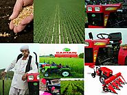 Automatically drilling seeds by compact tractors