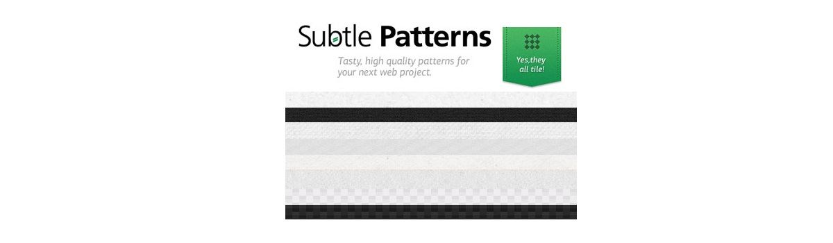 Headline for Your suggestions for alternatives to @subtle_pattern #webtoolswiki