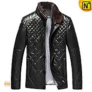 Abu Dhaibi Mens Down Filled Leather Jacket CW804078