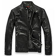 Cwmalls Mens Leather Moto Jacket Black CW809005