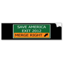 Save America Road Sign Bumper Sticker from Zazzle.com